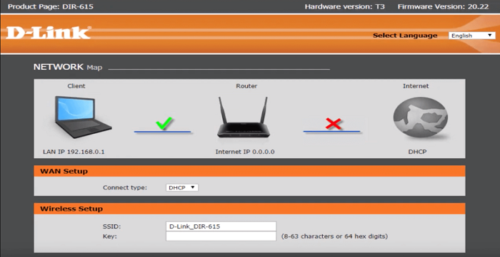 Dlink router login