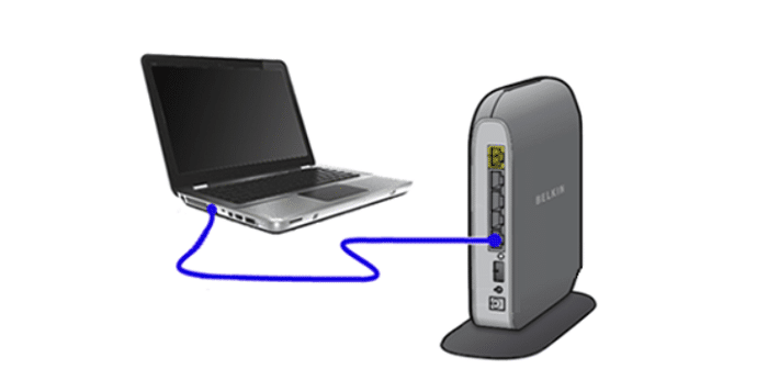 check if the router is connected to your pc
