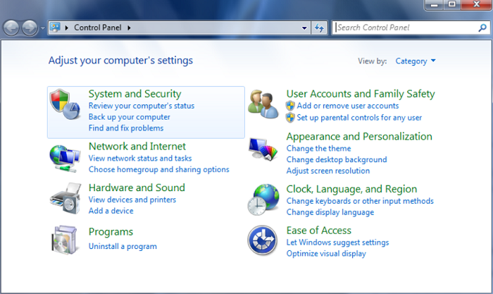 select system and security